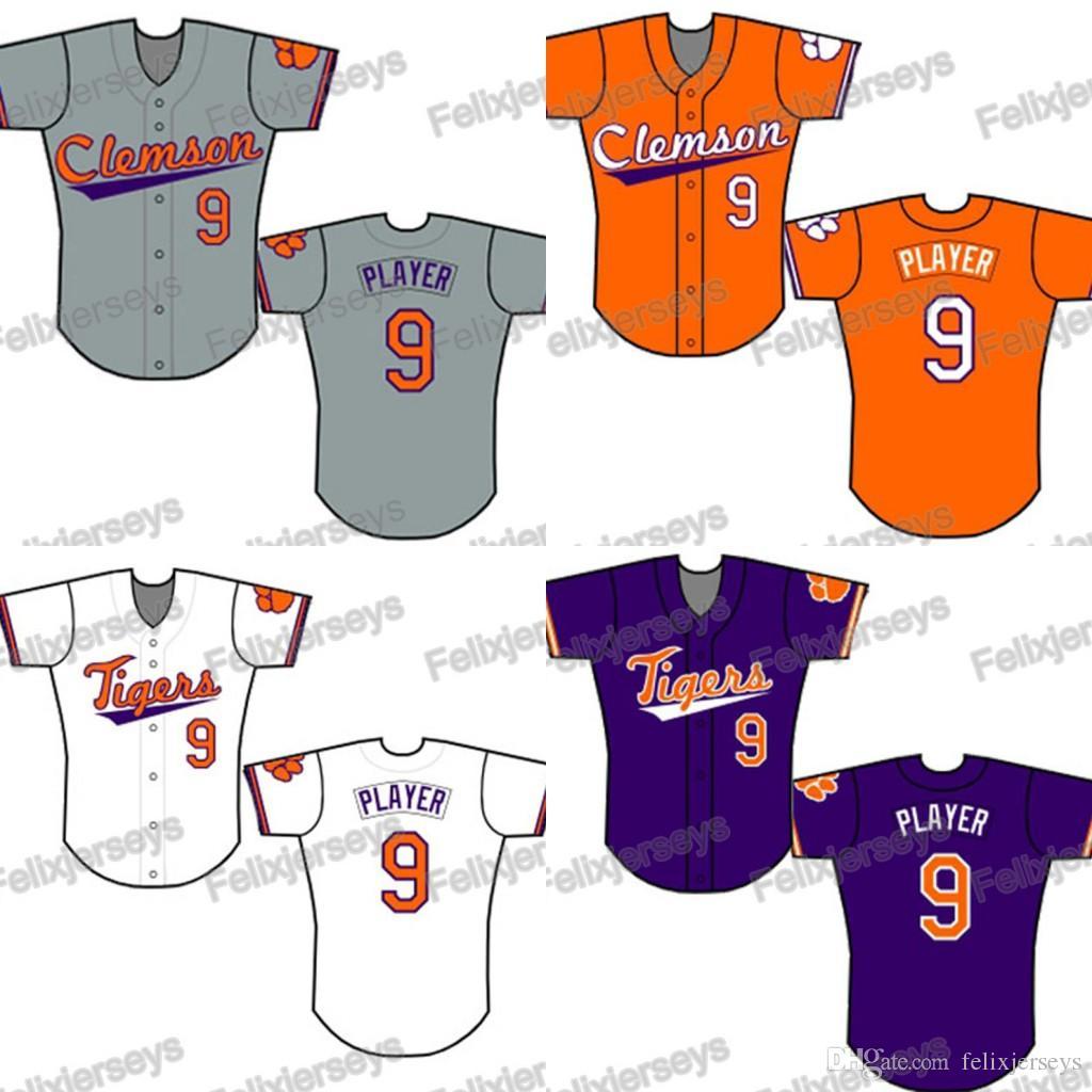 2021 NCAA Custom Clemson Tigers College Baseball Jersey Women ...