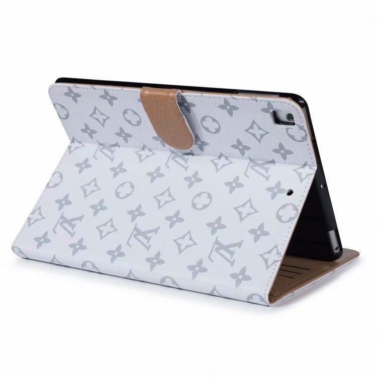 Vintage Grille Mode Tablet Case pour 2020 iPad pro 12.9 / iPad pro 11 / air 3 / iPad 10.2 / mini-12345 / iPad 56 Sac en cuir Porte-carte TPU couverture
