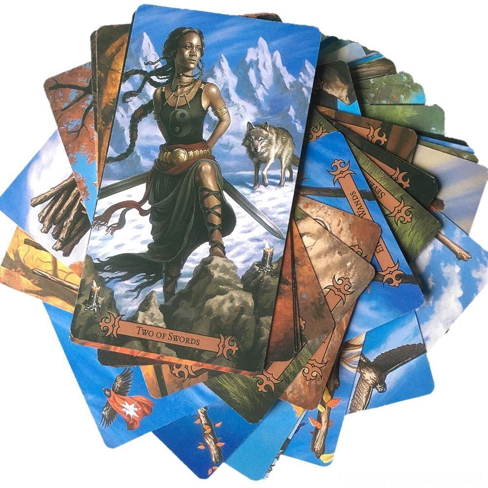78 Karten / Sets Moderne Hexer der Tarot-Karten-Brettspiel Andere Golf Produkte spielen Golf Deck Tabelle Tarot Spiel für Family Party-Spielkarte Ente