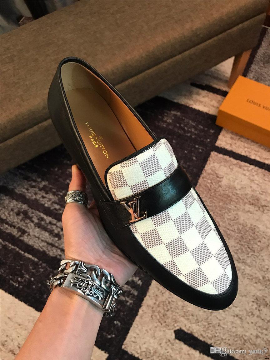 19FW affaires Retro Hommes Chaussures de sport de luxe en cuir véritable robe noire formelle moine boucle bretelles mariage Derbies Chaussures Zapatos Hombre YECQ5