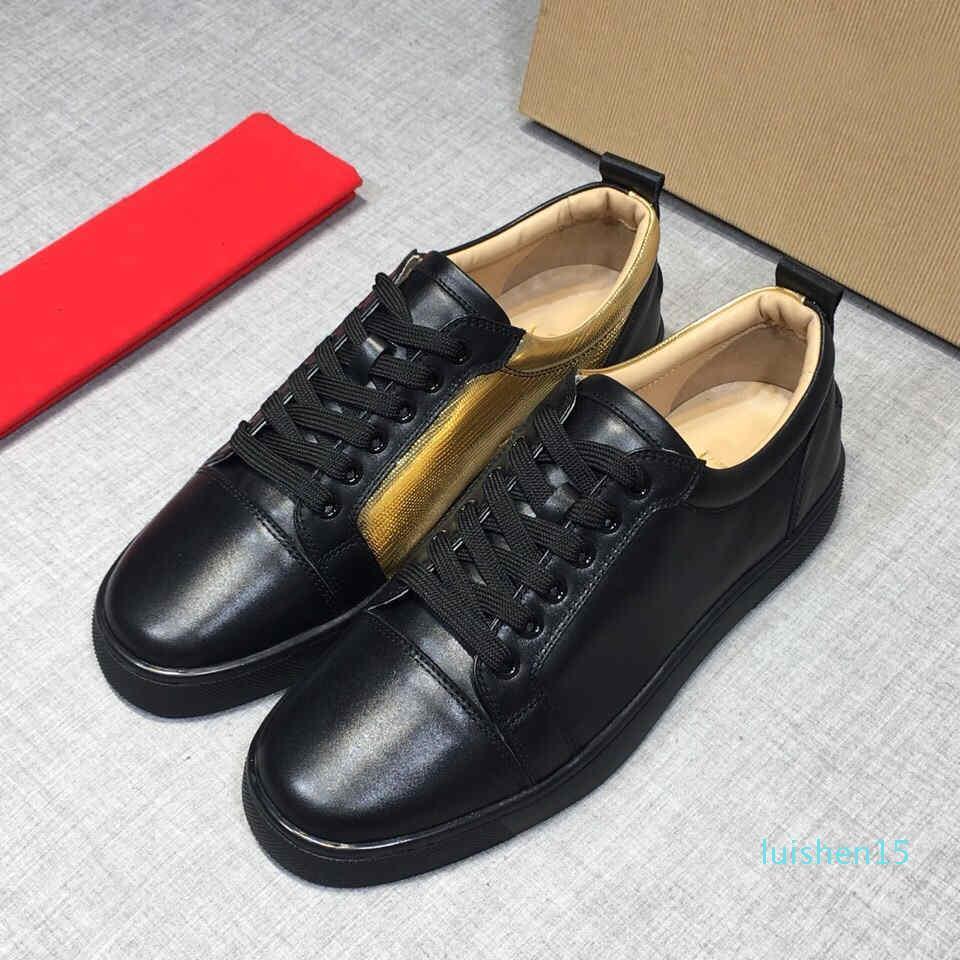 NOUVEAU Designer Red Sneakers chaussures Bas Low Cut Suede Chaussures de luxe pour Hommes Femmes Chaussures Parti de mariage en cristal L15 Chaussures de sport en cuir