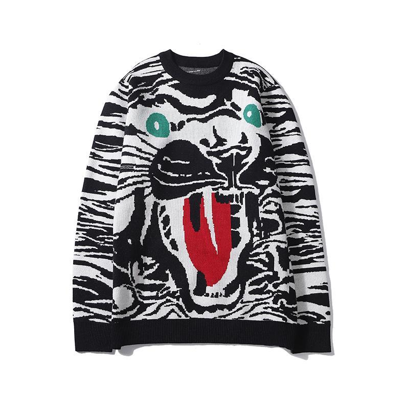 Moda para mujer para hombre diseñador Sweatershirts la raya del tigre impresión del tigre Cara Casual Primera marca de calidad superior Pullover Primavera B101683V otoño