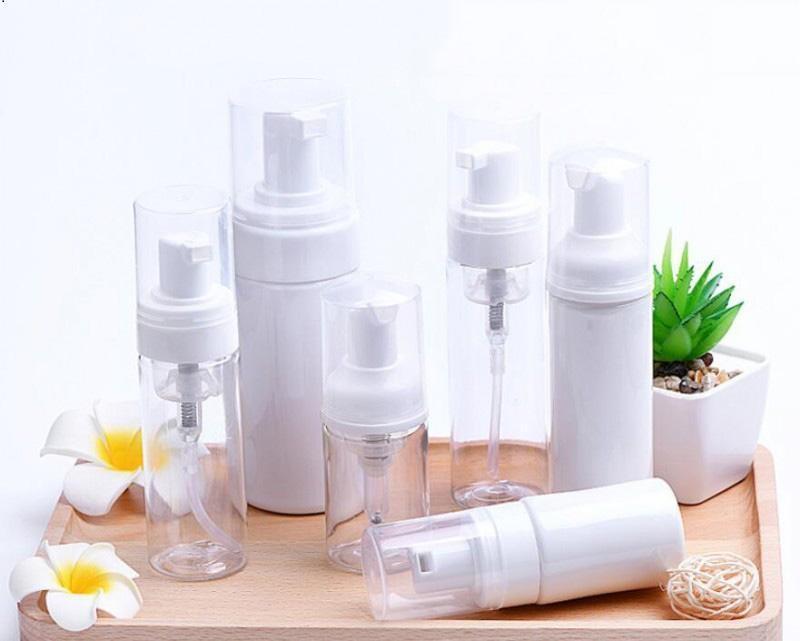 30ML 60ml de plástico dispensador de jabón Botella de espuma blanca clara Botella de espuma de espuma Mousses Dispensador de líquido Frasco de espuma DHD236