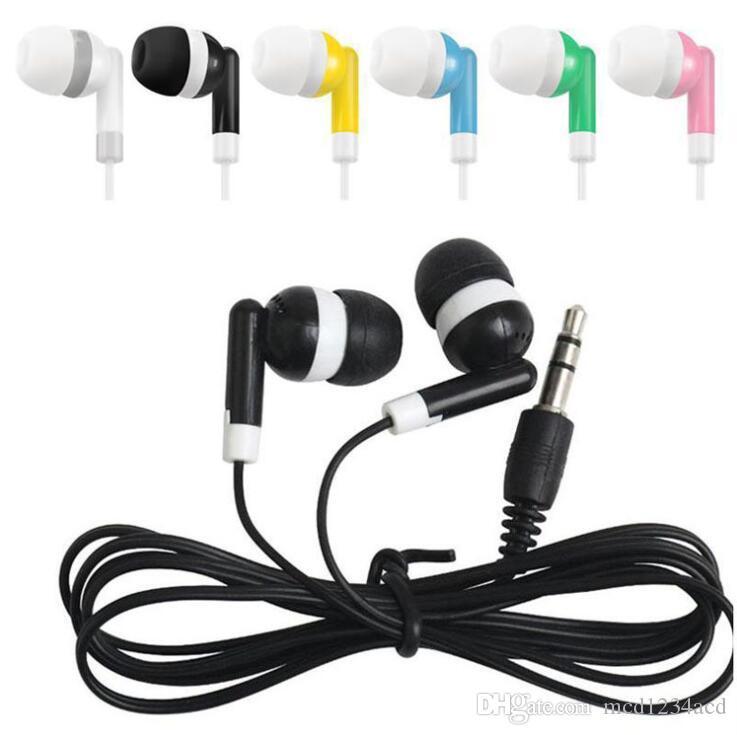 سماعات الحلوى الملونة 3.5 ملليمتر جاك سماعة سماعة المتاح سماعات لسامسونج أندرويد الهاتف mp3
