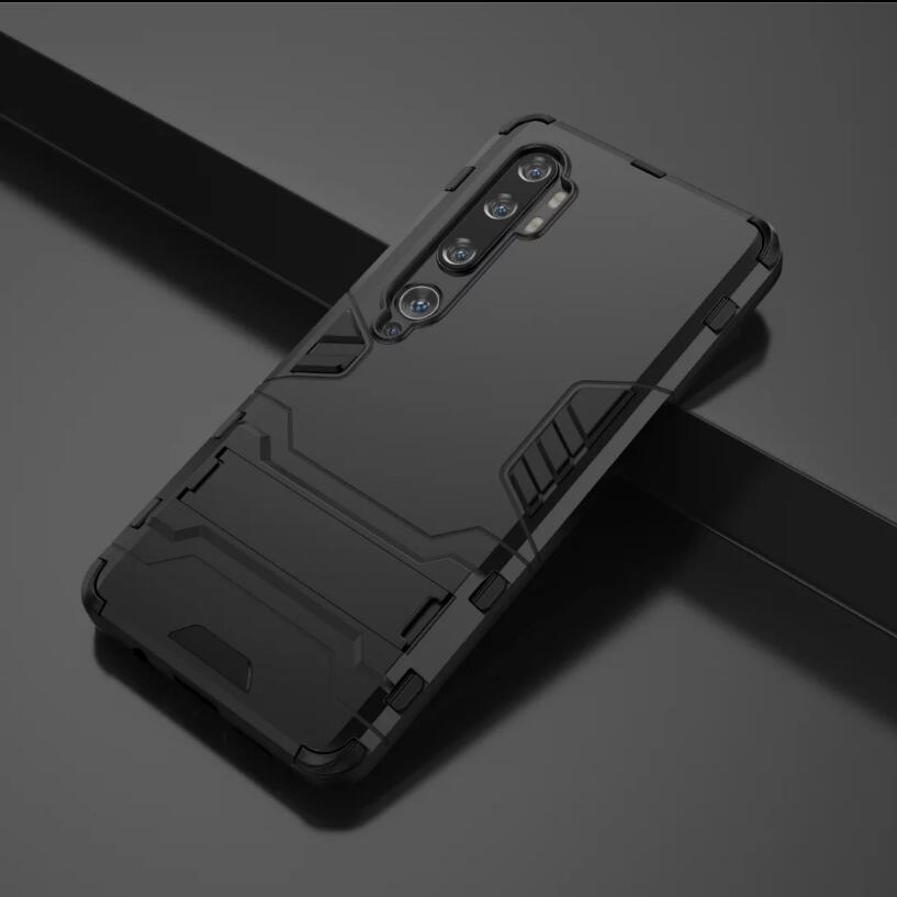 Pour Xiaomi Mi CC9 Pro Classic Case robuste Combo hybride Armure d'impact Support Housse de protection pour Xiaomi Mi CC9 Pro / Mi Note 10