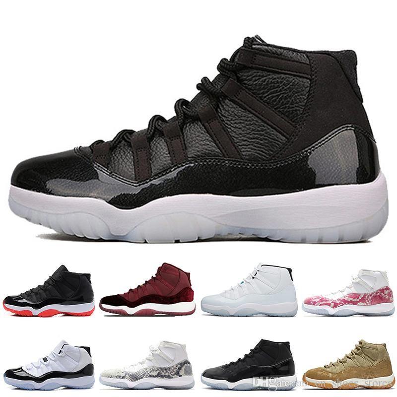 11s bon marché élevé 72-10 nouvelles Bred 2019 chaussures de basket-ball hommes Concord 45 femmes Violet Marine Midnight Mens Sport Sneakers Athletic Designer