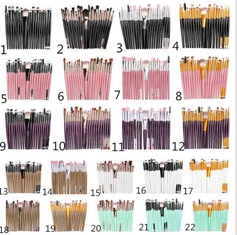 20Pcs set trucco professionale spazzole Set Powder Foundation ombretto compone le spazzole Cosmetici morbida capelli sintetici