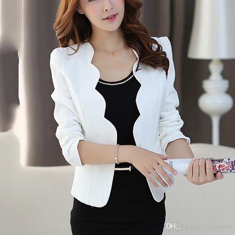 2019 Blazers Slim Cardigans Office Wear Coat For Women Tops Korean Style Female Clothing Harajuku Female Jacket Pocket 421 #408644