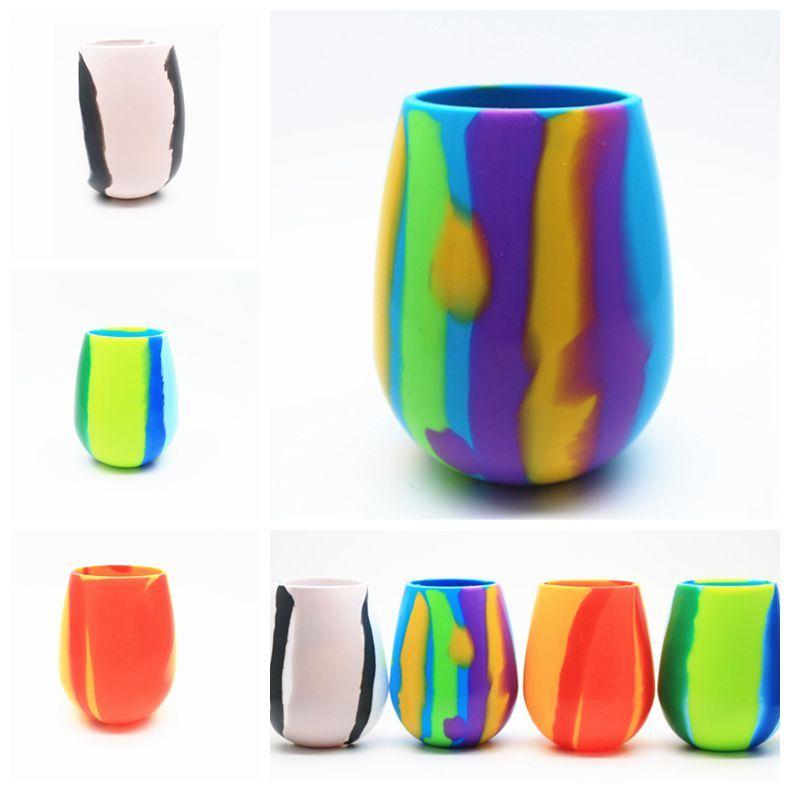 4 cores 12oz 20pcs Caneca Camuflagem Silicone vinho tinto copos de vidro de cerveja de vidro dobrável Silicone Beer Cup Copos CCA11724-A