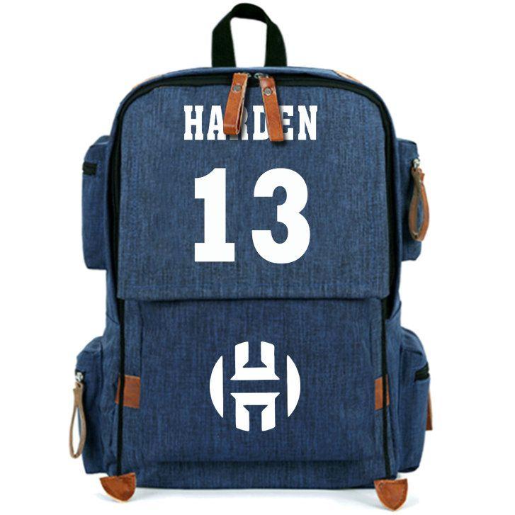 13 حقيبة ظهر على ظهره جيمس هاردن - حقيبة ظهر مدرسية - نجم جديد - لون نقي - حقيبة مدرسية - قماش - حقيبة ظهر رياضية - حقيبة ظهر رياضية