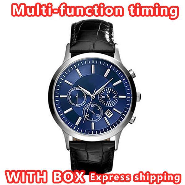 Вверх 2020 Мужские часы AR нержавеющей стали Марка вскользь Military Кварцевый Спортивные часы кожаный ремешок Мужские часы Relogio masculino-