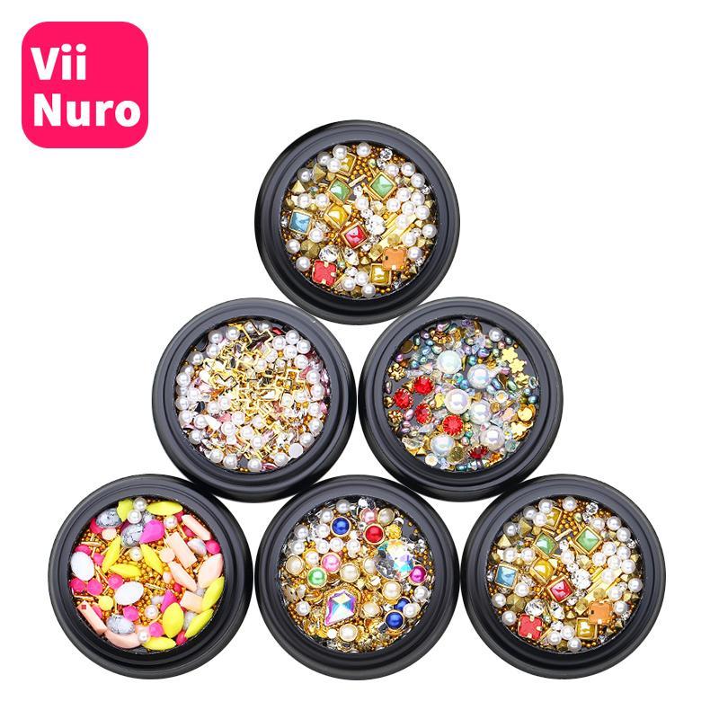 ViiNuro 1шт Кристалл ногтей стразы для дизайна ногтей 3D Nail Art украшения для маникюра блеск акриловые стразы