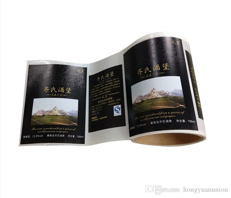 Custom perfect design Exclusive Elegant wine sticker label printing with best price