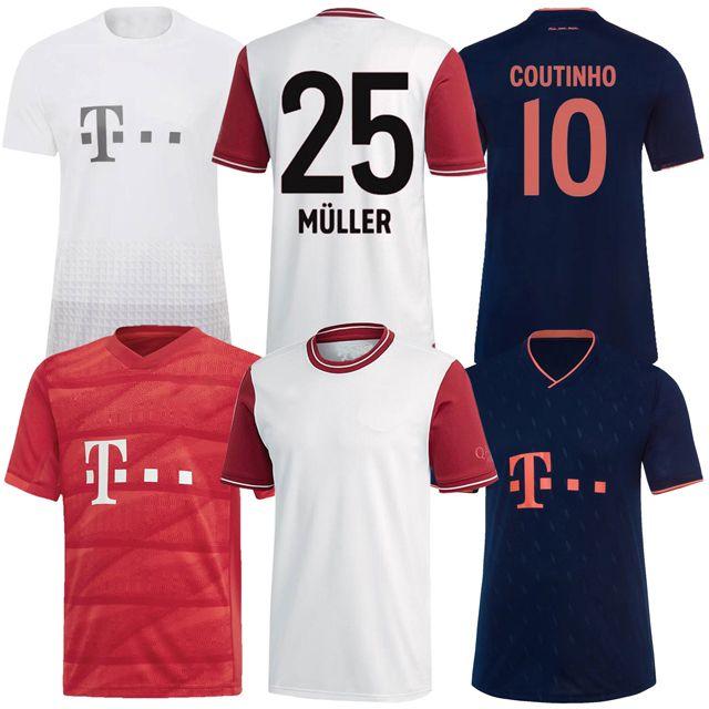19 20 21 Bayern de Munique COUTINHO camisa de futebol LEWANDOWSKI MULLER HERNANDEZ futebol camisas Homens 120º Aniversário de 120 anos MUNCHE