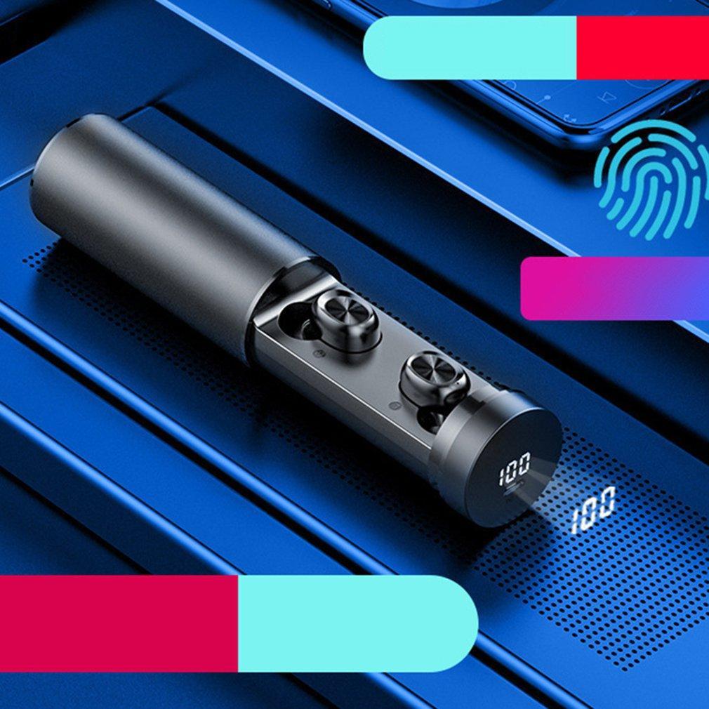 Novo B9 TWS Wireless Bluetooth Headphones Headset Música Bluetooth Earbuds Esporte Power Display Fone de ouvido para Samsung Huawei Xiaomi