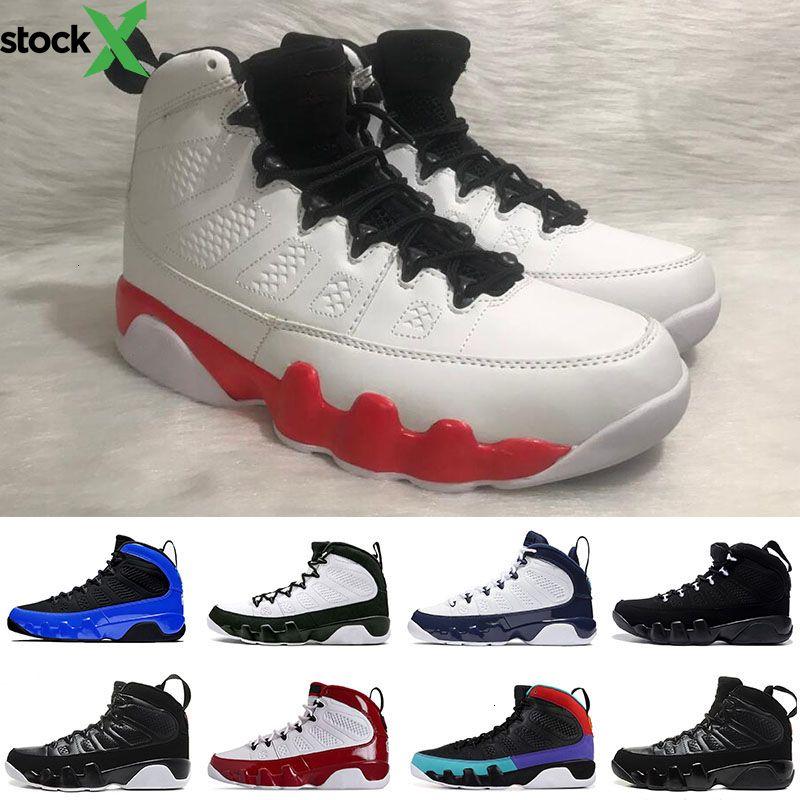 moda OG Space Jam 9 9s Mens Basketball Shoes Antracite Palestra Red Lo Spirito marmellata Bred UNC atletica leggera Sport Sneakers 7-13
