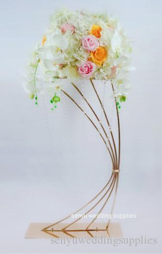 Yeni stil Acadia Çiçek Sütunlar Kare Çerçeve Çiçek Düğün Olay Parti Dekorasyon Için Vazo Sütun Standı senyu0161