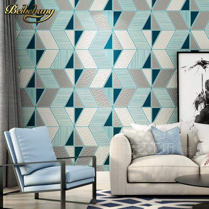 Salon döşeme duvar kağıdı yatak paneli için papel de Parede 3d Geyik derisi geometri duvar kağıdı rulosu kağıdı
