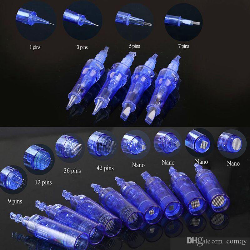 Para el Dr. Pen A1 1 3 5 7 9 12 36 42 pins Nano Needles Cartucho Para Derma Pen microneedling eléctrico Derma Pen