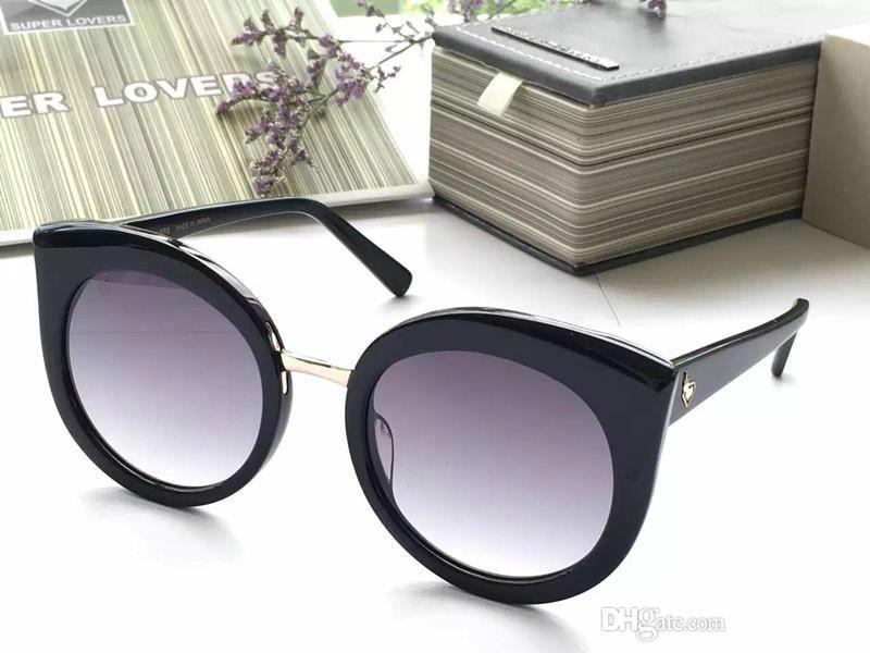 Super Lovers alta qualità di marca del progettista degli occhiali da sole delle donne di marca di modo Occhiali da Vista Retro Style Protezione UV viene con l'imballaggio 012