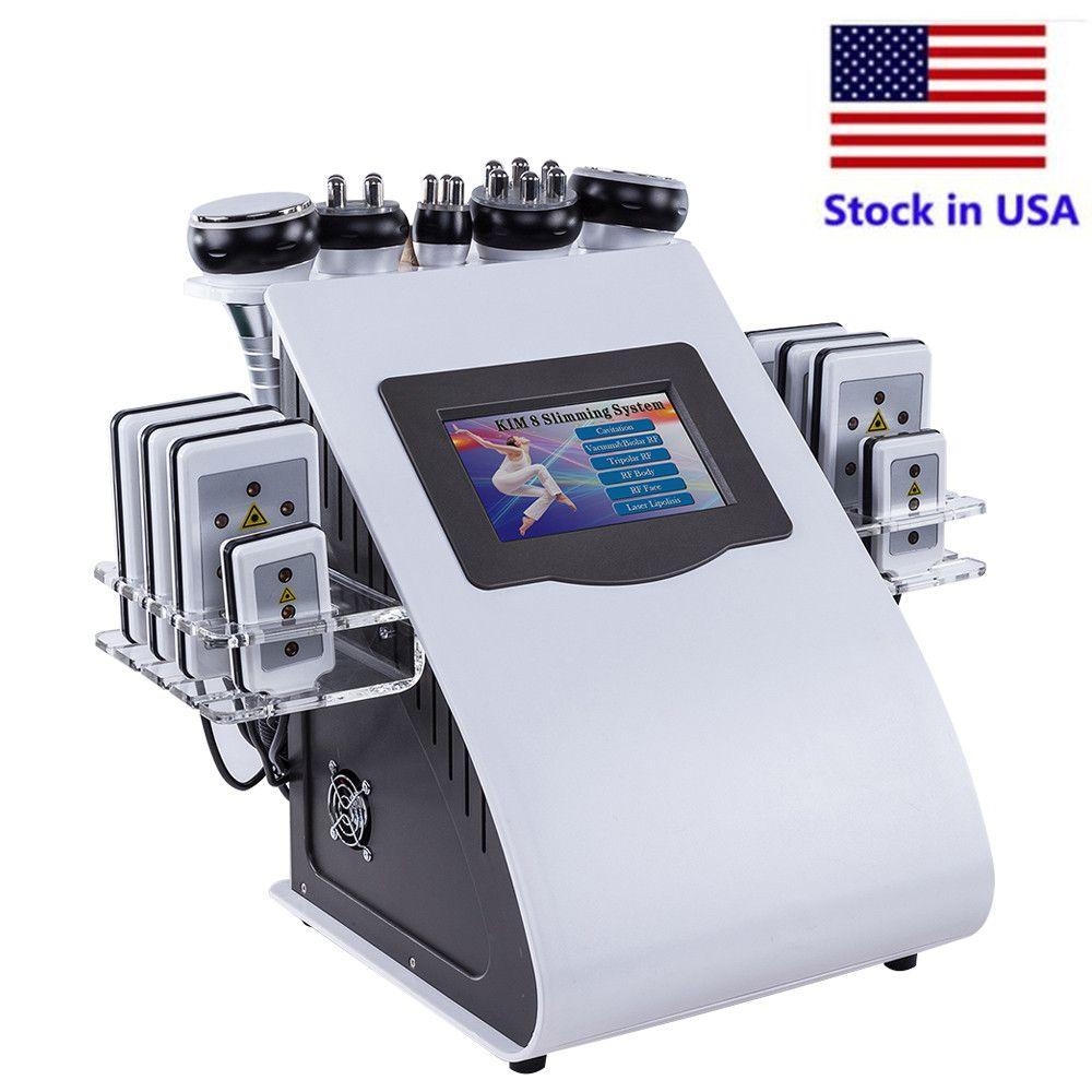 Estoque nos EUA Novos produtos CE aprovado 6 em 1 Kim 8 Sistema de emagrecimento Lipolaser Vácuo Ultrasonic Cavitation Cavitation Machine