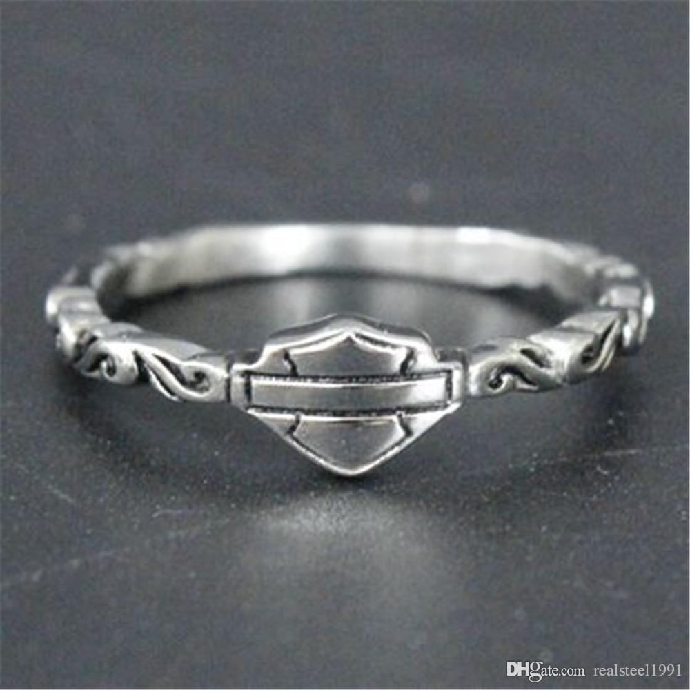 5pcs un formato libero di trasporto 5-10 unisex anello freddo del motociclista dell'anello dell'acciaio inossidabile 316L del motociclista unisex nuovo