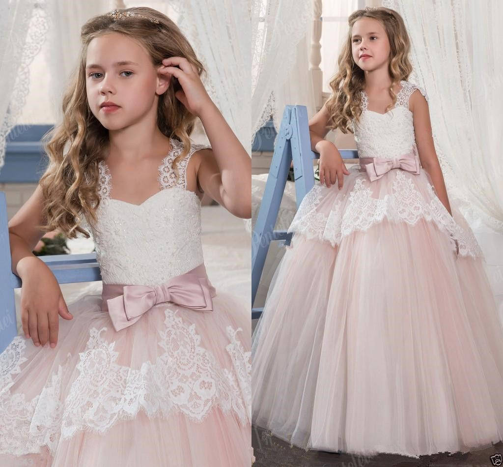 Little Girl Kids Party Flower Girl Dresses for Wedding Bridesmaids Prom Ball Gown Pageant Birthday Formal Occasion CG01