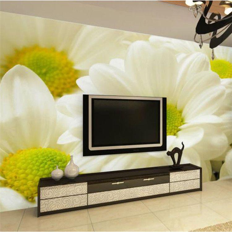 사용자 정의 사진 벽지 현대 3D 입체 촬영 릴리프 꽃 거실 TV 배경 벽화 홈 장식 월페이퍼 벽화