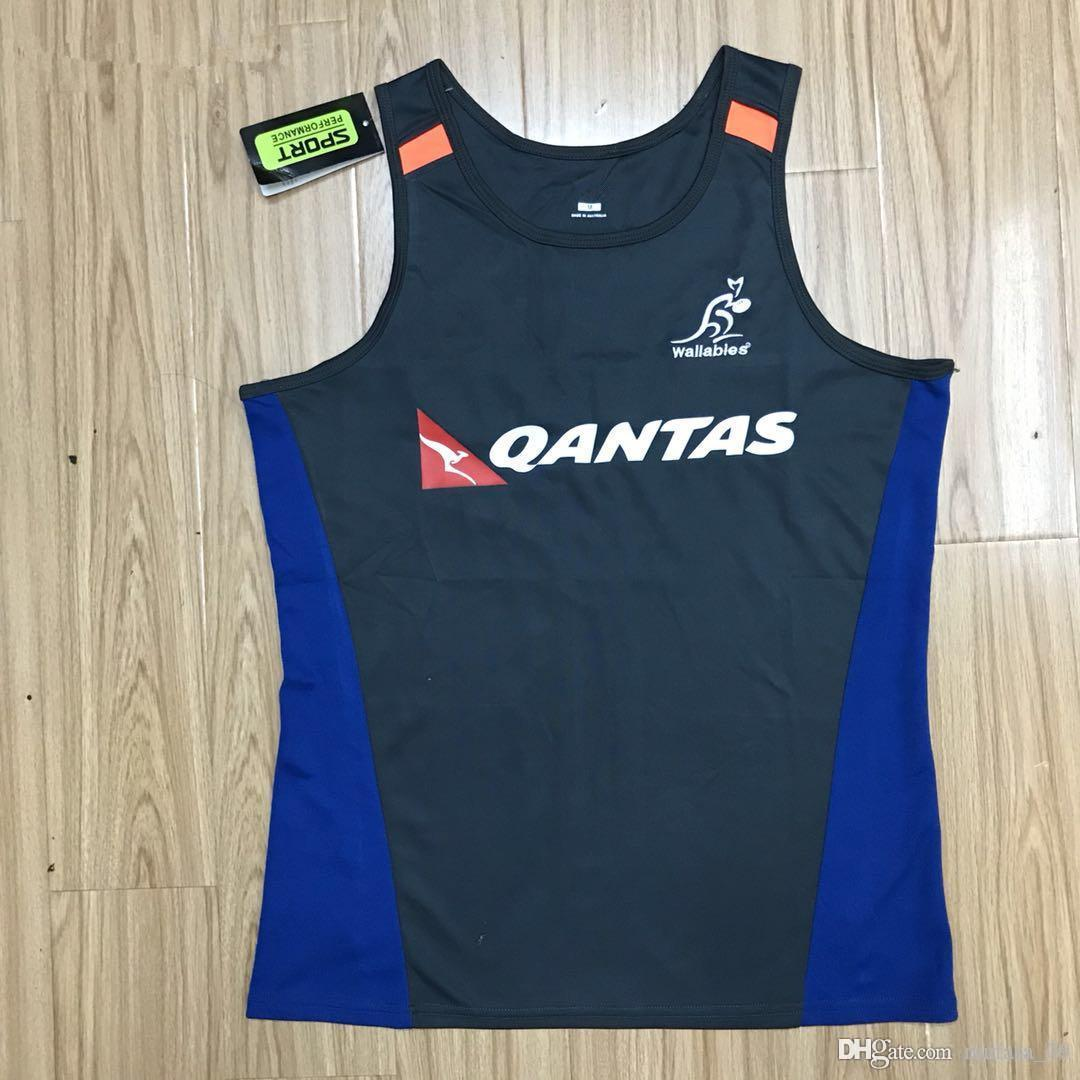 2019 Australie wallabies JERSEY singlet rugby Maillots chemise wallabies gilet chemises