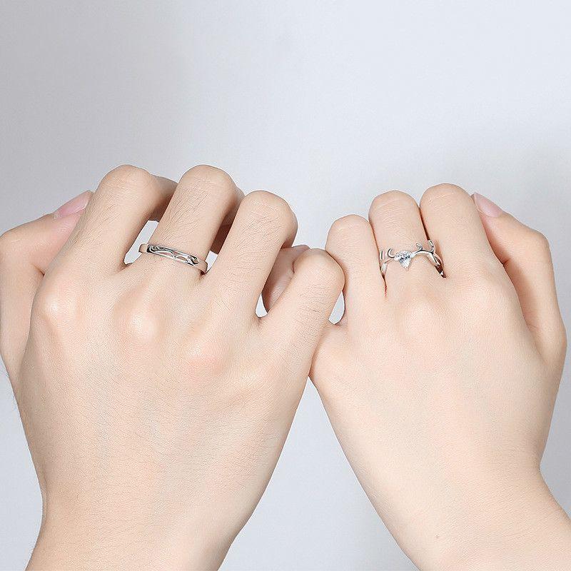 Wholesale-rings wedding rings sets luxury designer jewelry engagement rings for women 925 sterling silver ring diamond ring deer shape NE991