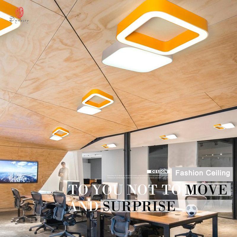 Luces de techo cuadradas de aluminio de diseño LED luz colgante colorido patrón de anillo decorativo hogar restaurante Club recepción iluminación envío gratis