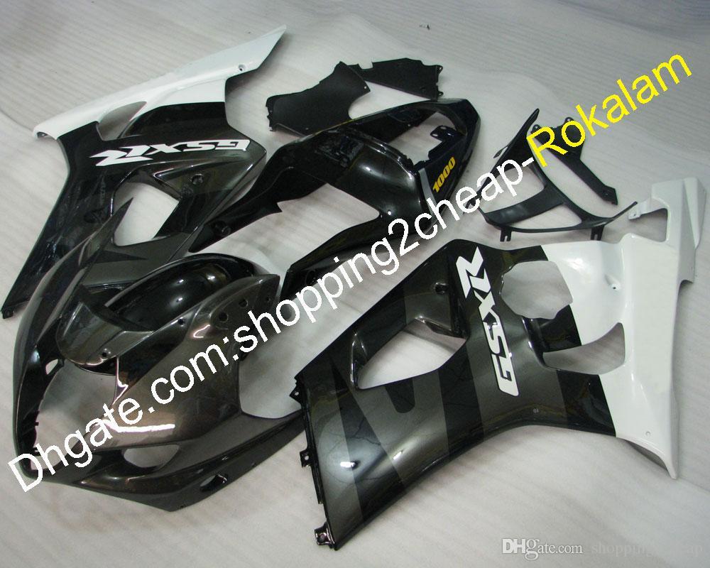 ABS Motorcycle For Suzuki Fairing GSXR1000 GSX-R1000 03 04 K3 2003 2004 GSX-R 1000 Bodywork Black White Gray Fairings (Injection molding)