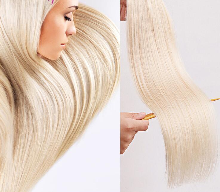 Livraison Gratuite Spot Film Couleur Coiffure droite Cheveux Real Coiffures Non Trace Cheveux recevant Invisible et sans trace naturel lisse