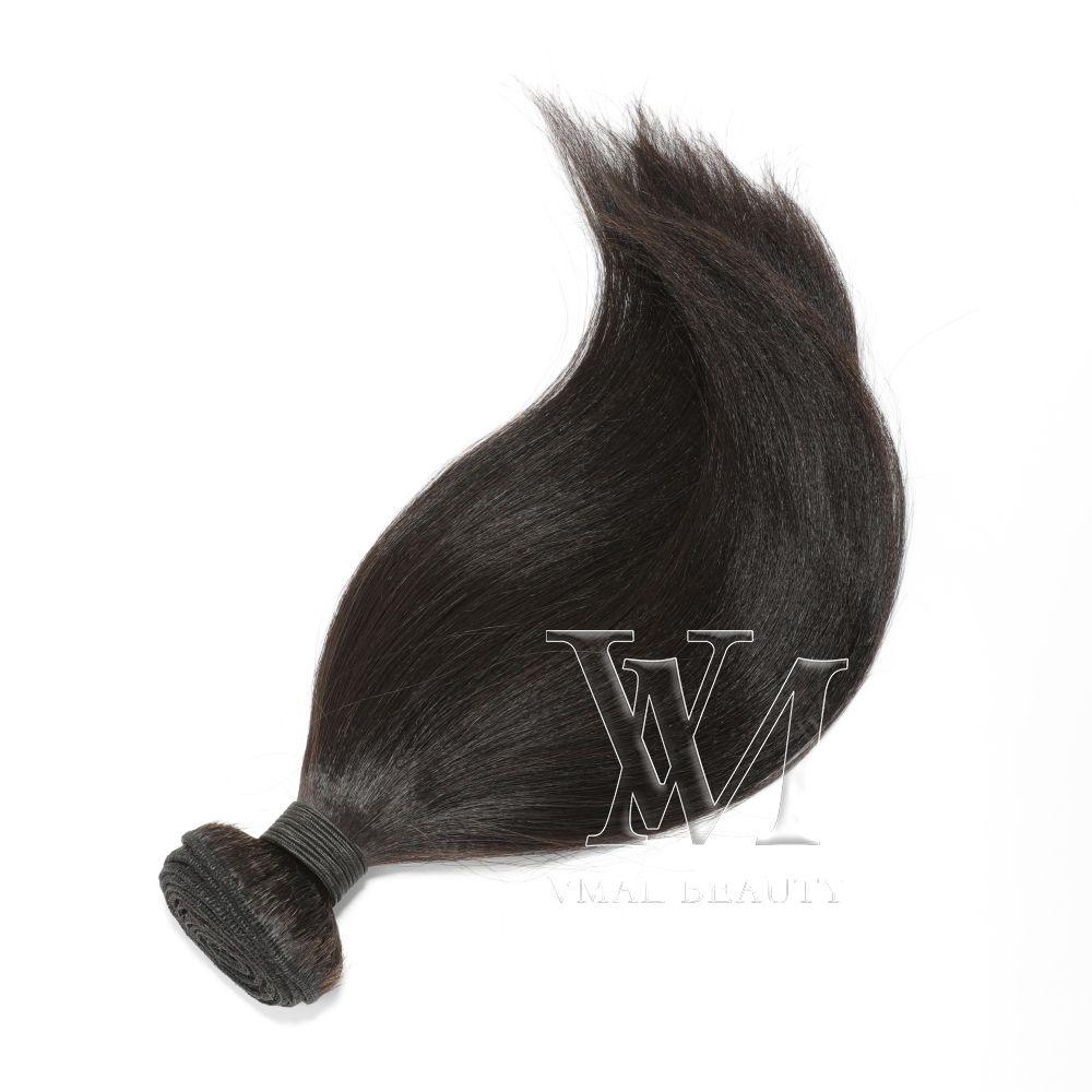 vmae 야키 스트레이트 천연 색상 버진 인간의 머리카락 확장 3 번들 미처리 브라질 직조 10 ~ 28 인치 최고 품질