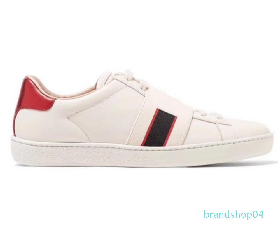 Nueva llegada de la manera mujeres de los hombres de diseño de los zapatos ocasionales de lujo zapatillas de deporte de los zapatos de calidad superior de cuero auténtico abeja 11L14 bordado
