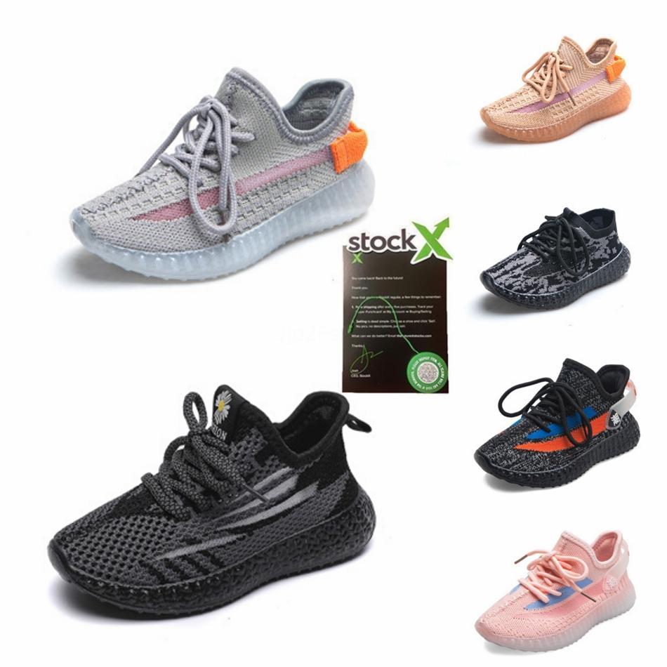 Новые дизайнерские Детская обувь Клей V2 кроссовки Kanye West Synth Lundmark Hyperspace Правда Форма тренер кроссовки Glow Gid Детская обувь # 609