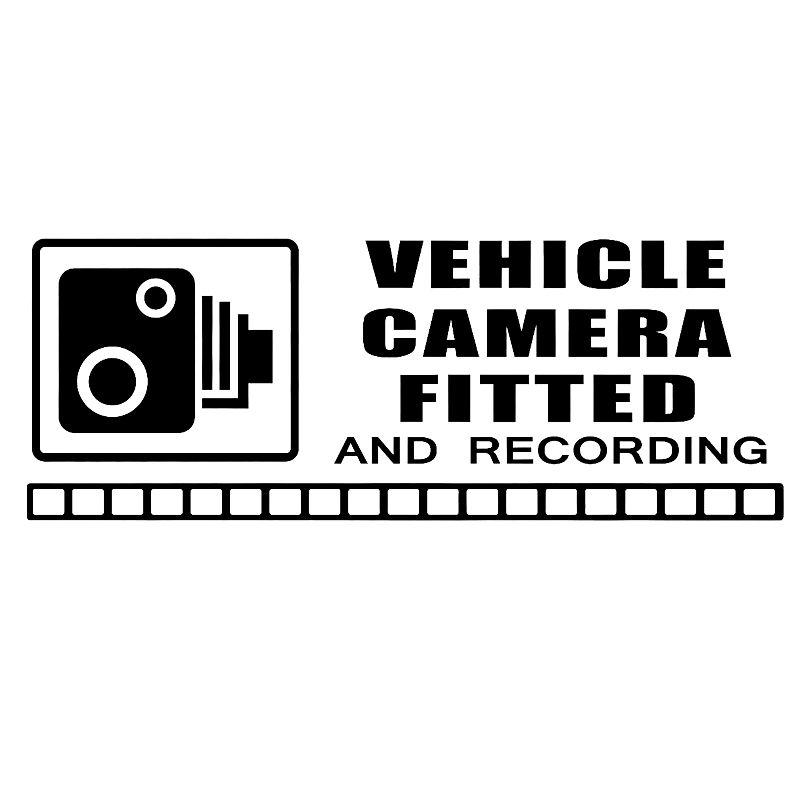 15 * 5.6 센치 메터 역 경고 스티커 CCTV 비디오 카메라 녹화 자동차 차량 창 기호 비닐 데칼 자동차 액세서리
