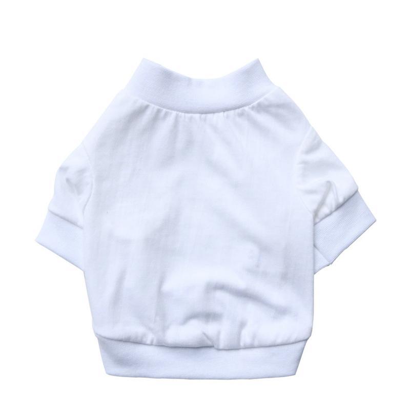 Roupa do cão de verão Veste de cão branco puro t-shirts para pequenos filhote de cachorro esporte de esporte de algodão roupas de gato dropshipping