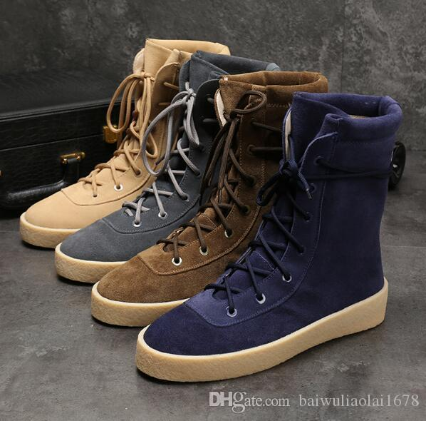 KANYE high boots Best Quality Fear God Top Military Sneakers Hight Army Boots Men and Women Fashion Shoes Martin Boots size 38-45
