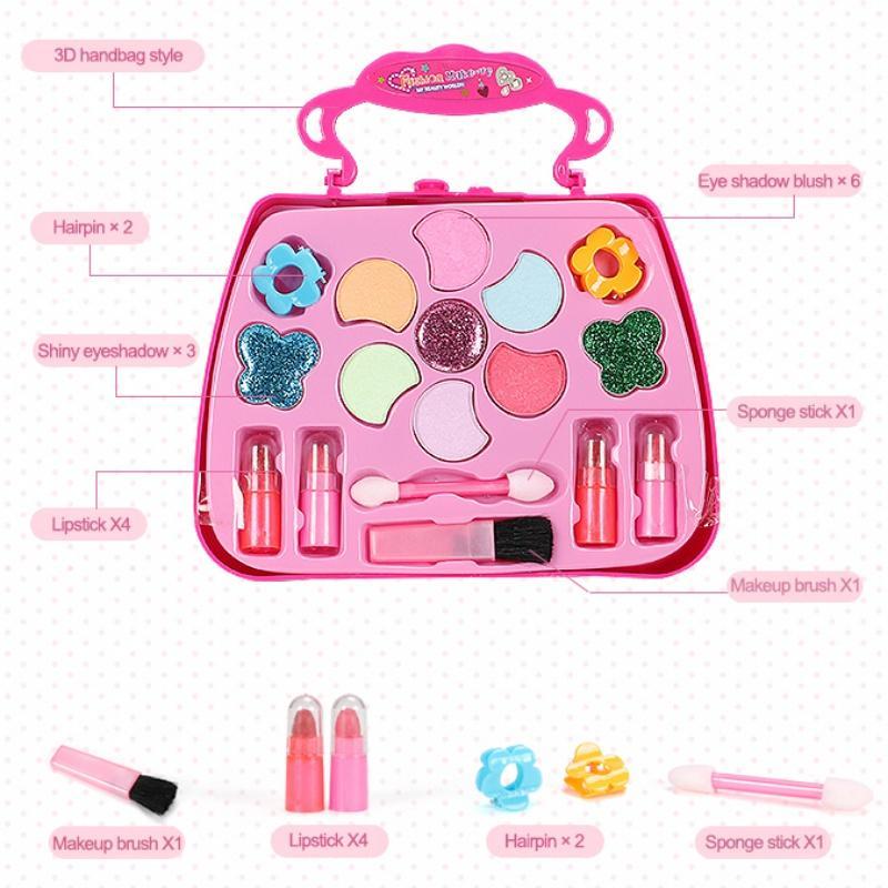Crianças de composição adolescente não-tóxicos Cosméticos Beleza Brinquedos Pretend Play Princesa Maquiagem Box Set