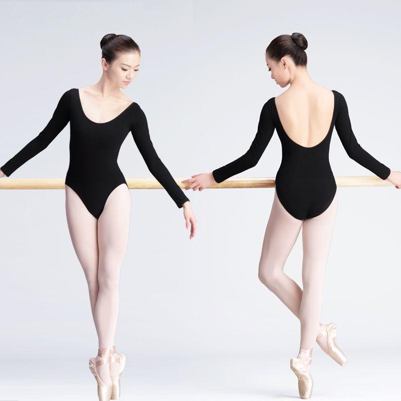 Girls Classic Long Sleeve Ballet Dance Leotard Gymnastics