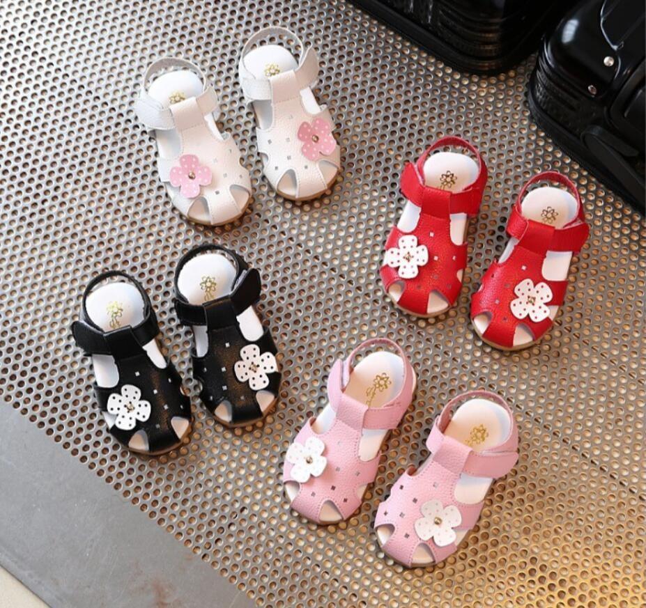 Summer girls sandals flowers baby sandals princess shoes Korean version small children's shoes