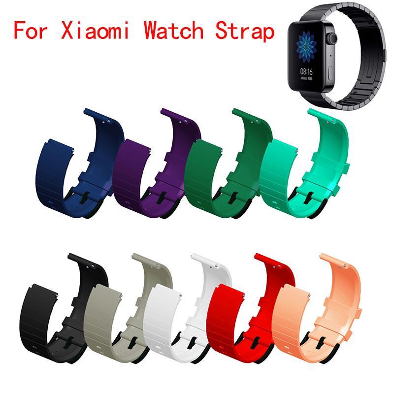 Silikonband für Xiaomi Mi Smart Watch Sport Ersatzarmbanduhrband für Xiaomi Uhrenband 2019 mit Adapteranschluss