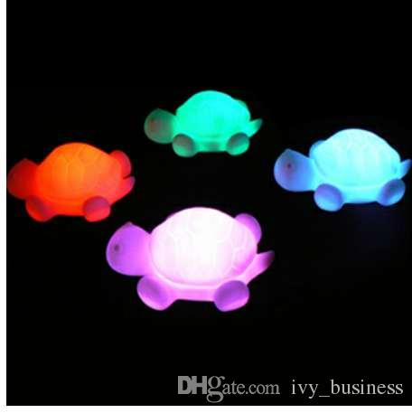 Cute Turtle Color Changing LED Flash Lamp Night Light Baby Room Party Home Decor