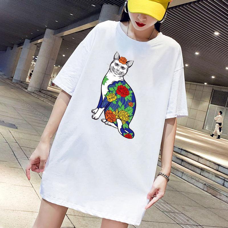 Damen-T-Shirts 2020 neue Ankunfts-Frauen Sommer-Art- und Letter Print Rundhals-T-Shirt beiläufige Frauen-Breathable T 2 Farbe Größe M-4XL