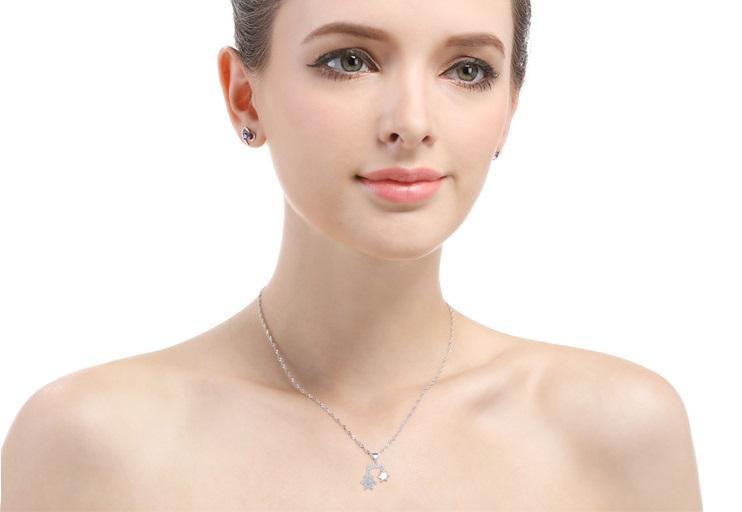 regalos del día de San Valentín de primera calidad colgantes de plata S925 S925 colgante de copo de nieve del estudiante gargantilla collares DDS3349