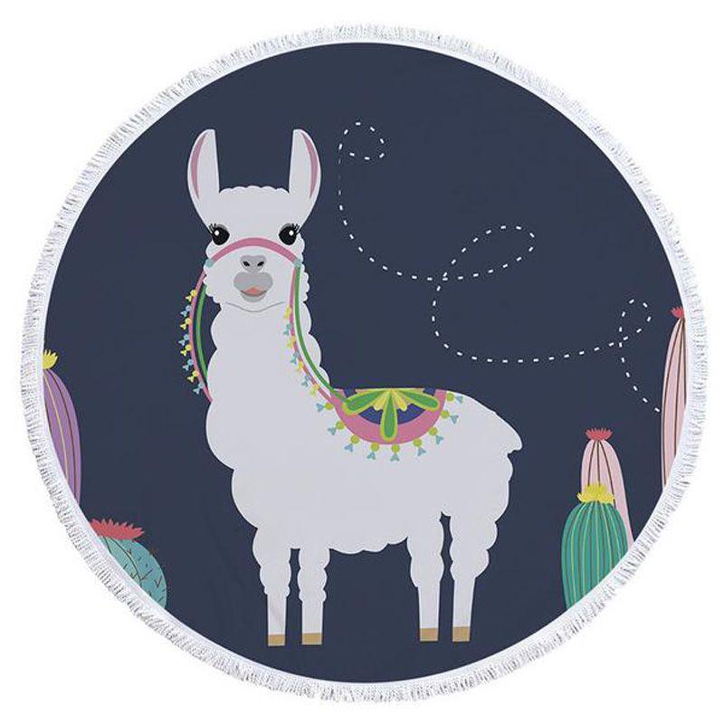 Alpaca Serie microfibra Telo Sport Yoga Coperta Piscina Telo da bagno