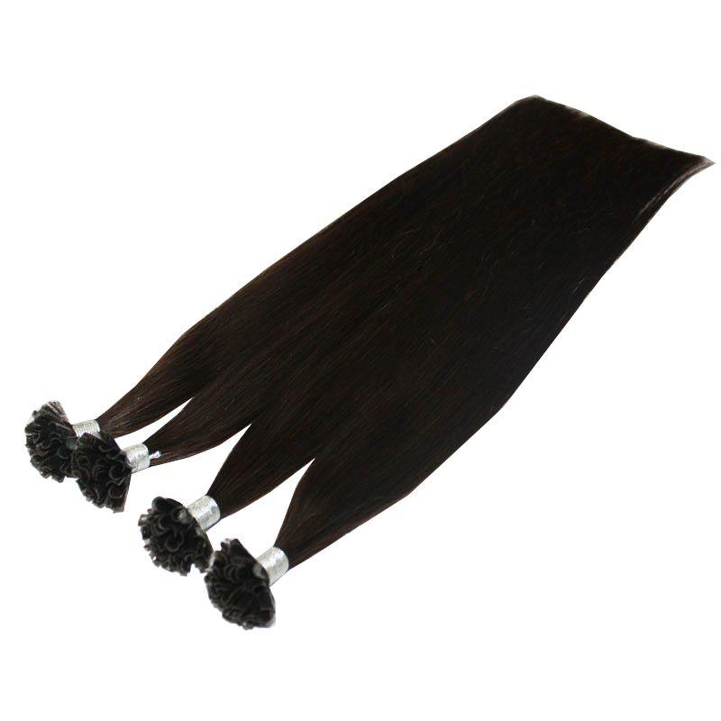 Najwyższej klasy 0.9g S 200ST 180gr Pack 14 '' - 24 '' 100% Human Włosy Czarny Kolor Nail U Tip Extensions Remy Indian