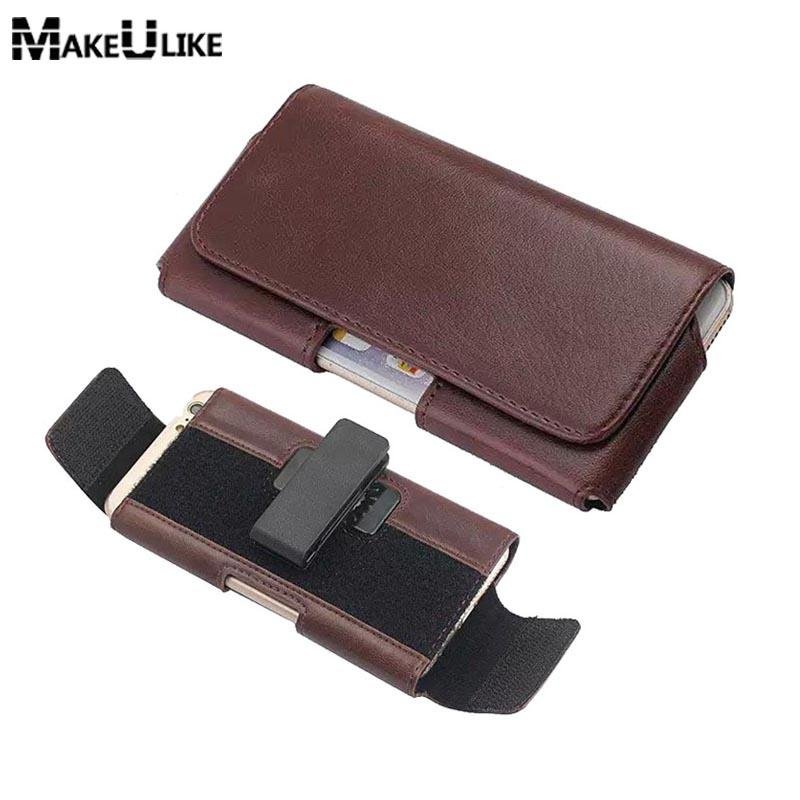 Leather Pouch For Samsung Galaxy A5 A7 A8 2017 MAKEULIKE Belt Clip Holster Universal Bags For Samsung A5 A8 2018 Case Fundas
