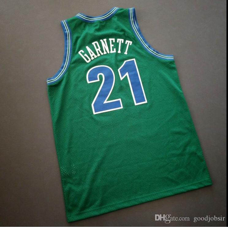 Custom Men Youth women Vintage Kevin Garnett College Basketball Jersey Size S-4XL or custom any name or number jersey